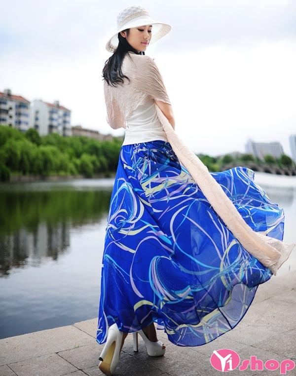 Váy đầm maxi voan cho nàng thêm lãng mạn ngọt ngào