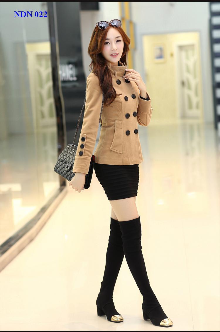 Áo khoác măng tô ngắn nữ công sở duyên dáng cho nàng