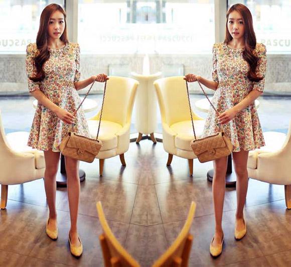 Chân váy đầm xòe đẹp hàn quốc trẻ trung