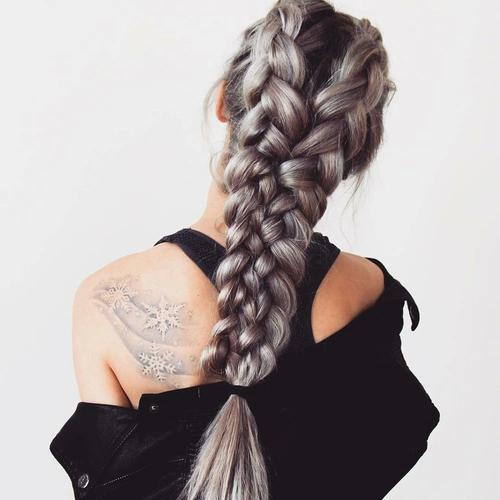 Những kiểu ombre bím tóc đẹp đến mê hồn