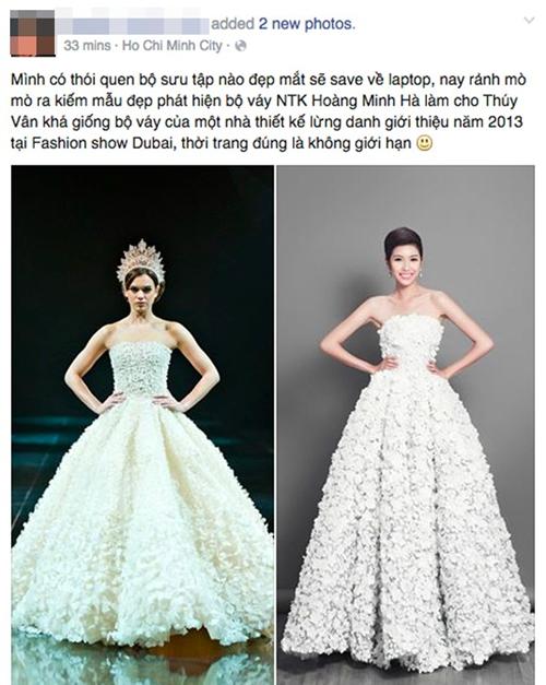 Hoa hậu đặng thu thảo mặc váy nhái